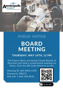 Aerotropolis Atlanta CIDs Board Meeting @ AACIDs Virtual Board Meeting | College Park | Georgia | United States